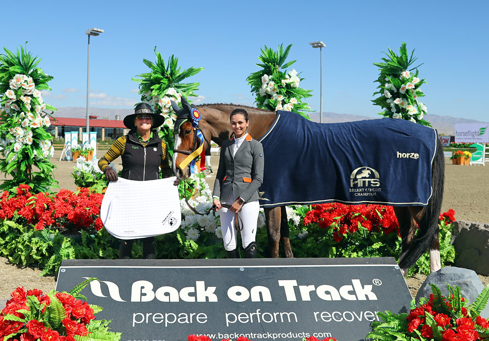Palasco CH Crowned HITS Coachella Mid-Circuit Champion in the 1.20m Junior/Amateur Division