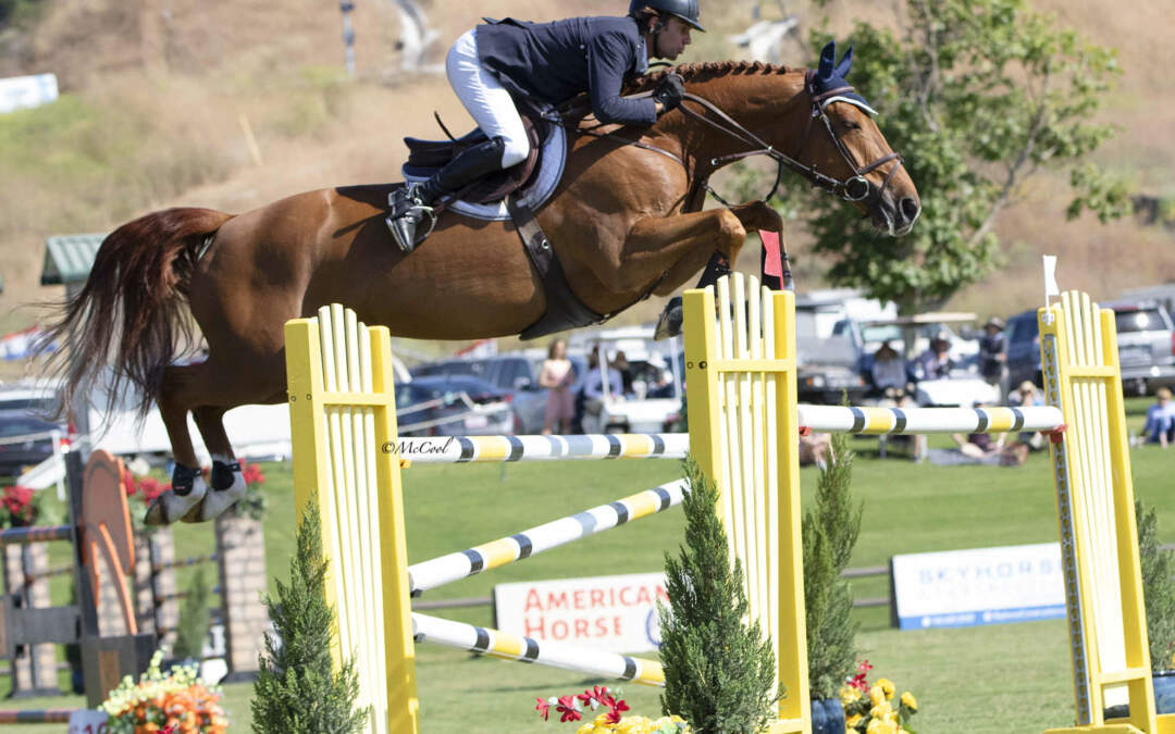 Cassio Rivetti And Dakota of the Lowlands Rock The $25,000 Markel Insurance Grand Prix
