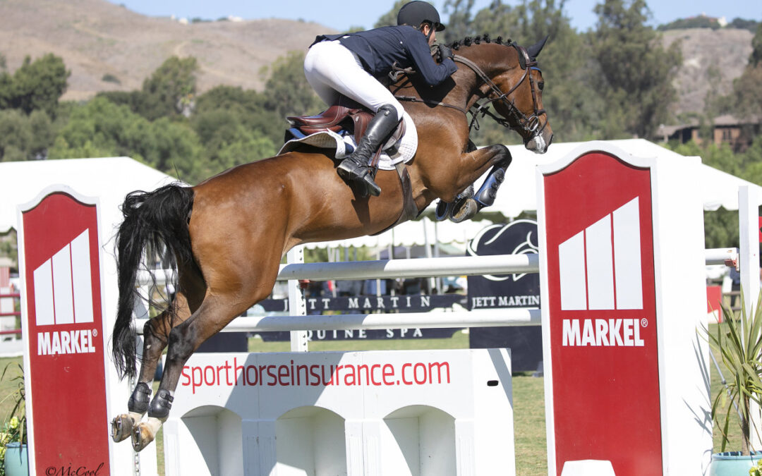 Cheers to Goblet and Cassio Rivetti in the $39,150 Markel Insurance 1.45m Jumper Series Final